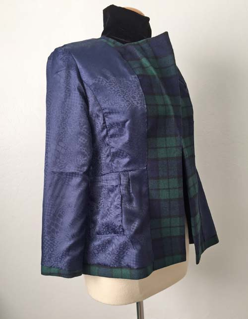 plaid jacket full lining