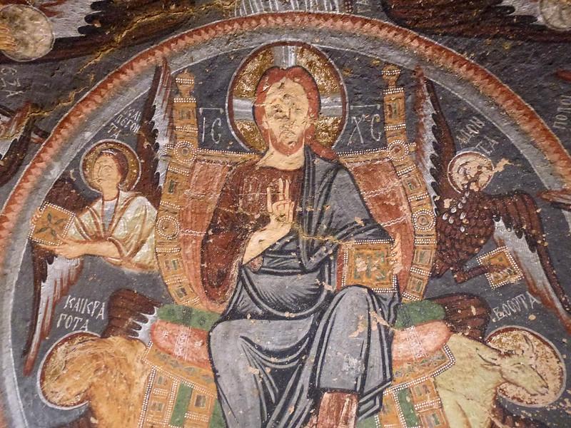 Turquie - jour 21 - Vallées de Cappadoce  - 105 - Çavuşin, Kızıl Çukur (vallée rouge) - haçlı kilise (église à la croix)