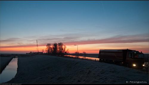 sunrise bluehour noordholland zonsopkomst schardam peterbijkerkeu blauweuur winter20142015