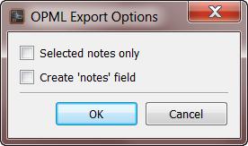 Scapple Export Dialog