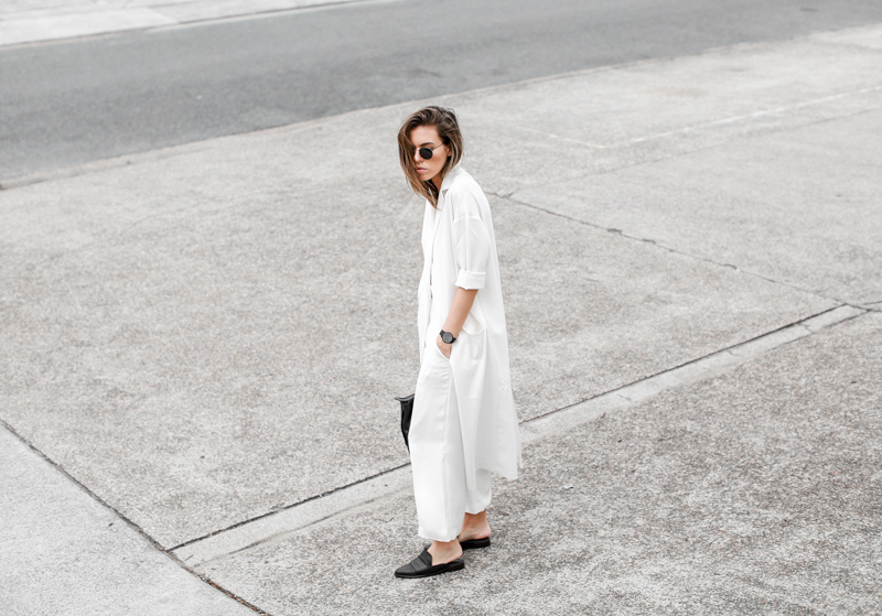 MODERN LEGACY fashion blog all white street style duster coat culottes slouch (1 of 1)