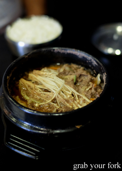 Beef stew bulgogi hot pot from Seoul Orizin, Haymarket Chinatown