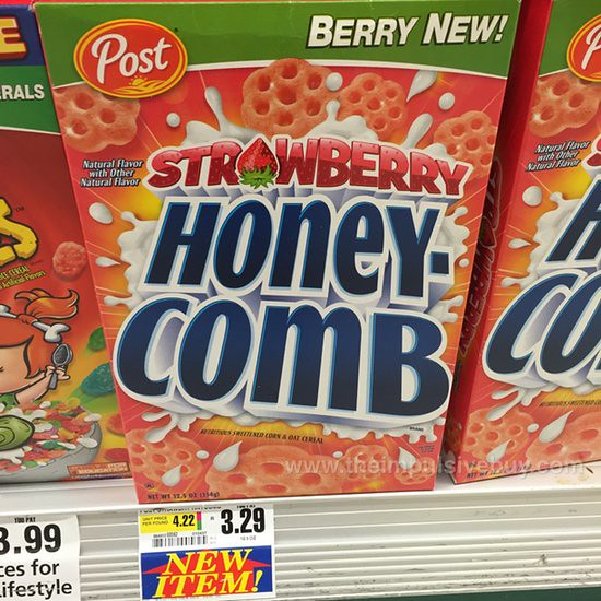 SPOTTED ON SHELVES: Post Strawberry Honeycomb Cereal (2014