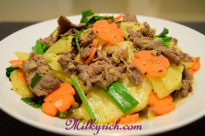 Thịt bò xào dứa - 1 - fe