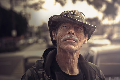Bruce, Veteran of Gulf, Homeless and Ill with PTSD - San Diego - 2010 6th december
