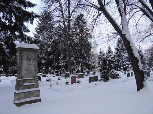 Im Winter die Gruft hüllt glattes Estrich ein, grauer Marmor spricht, geborsten und zerschlissen, mit kurzer Schrift aus den Bodenrissen steigt mahnend Staub empor und spielt im Abendschein der Kapelle 0546