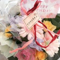 heading out to lunch with my host-mom & host-brother's wife. it's a couple weeks before my host-mom's birthday, hope she'll like these♡ #birthday #flower #kobe #japan #神戸