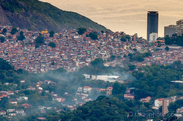 Rocinha, the Largest Favela in Rio from the Hill of Corcovado after Sunset | Rio de Janeiro, Brazil