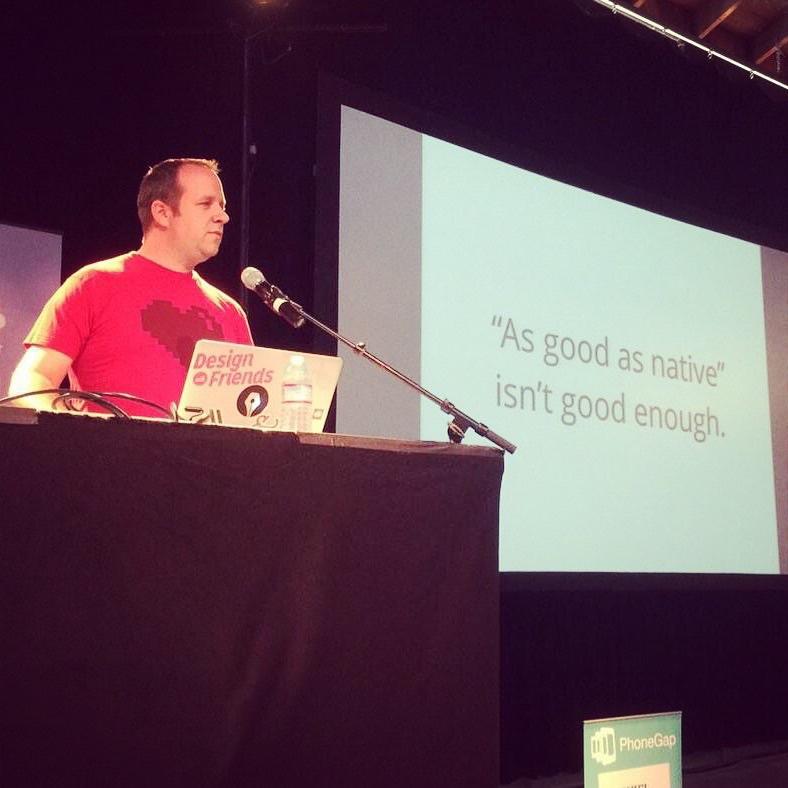 Garth Braithwaite presenting