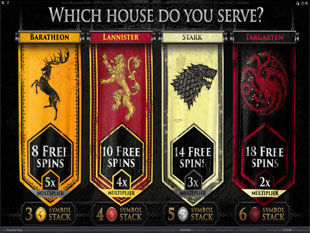 Game of Thrones – 15 Lines Free Spins