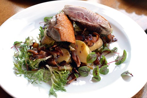Warm duck breast salad