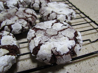 Chocolatey Crinkle Cookies
