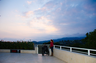 Watching the sunset @ the Getty