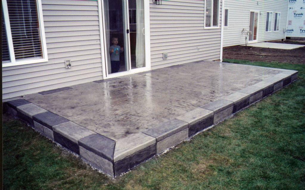 Stamped Patio Designs Concrete Slab Patio Ideas Featuring Flickr