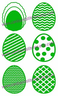 Easter Eggs with Pattern Digital Cutting File