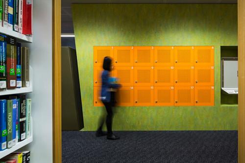 Self-service lockers for recharging laptops