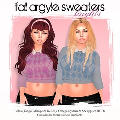 ..:sexZ:..-Fall Argyle Sweater / Brights for Going Bust!