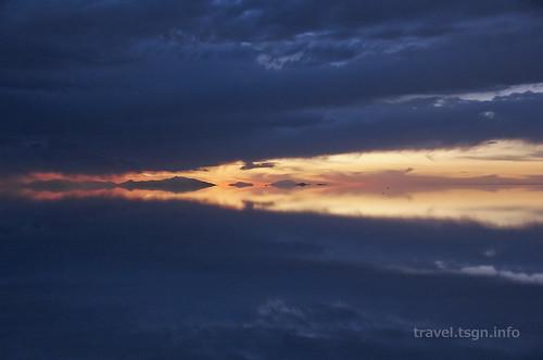 【写真】世界一周 : ウユニ塩湖(夕方-7)