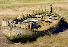 Saltend Haven wooden boat