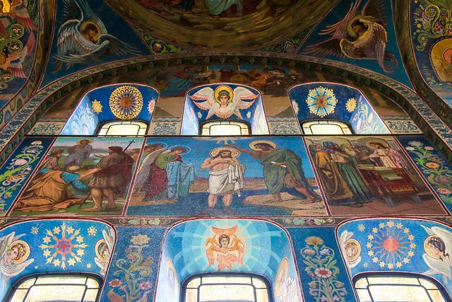 Angels in Church of the Savior on Blood, Saint Petersburg, Russia サンクトペテルブルク、血の上の救世主教会の天使たち