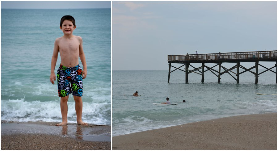 swimming by the pier