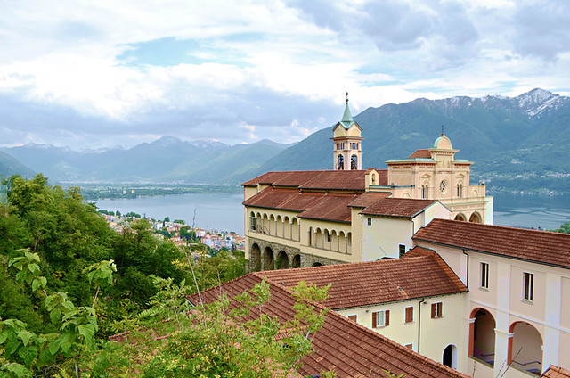 Sanctuary of Madonna Del Sasso, Lake Maggiore, Switzerland