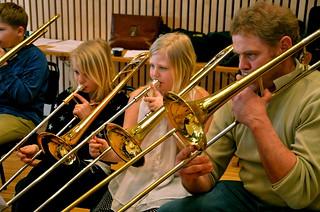 Tromboner i Framåt Brassbandet