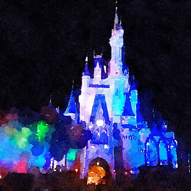 Wish I were here today.  #magickingdom #waterlogue #waltdisneyworld