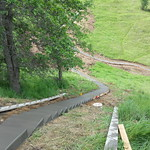 Hill Side Concrete Walkway Poured In Vacaville CA 3