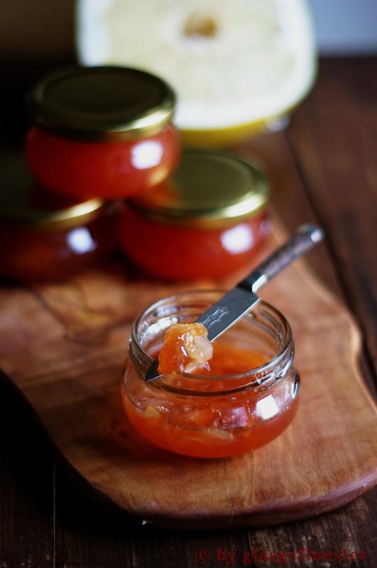 Blutorangen Pomelo Marmelade by Glasgeflüster 2 klein