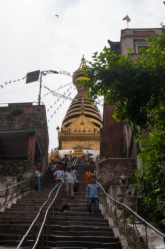 Steps leading to Svayambhu Stupa