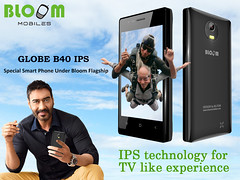 Bloom Mobiles GLOBE B40 IPS Special Phone With Ajay devgan Brand Ambassador