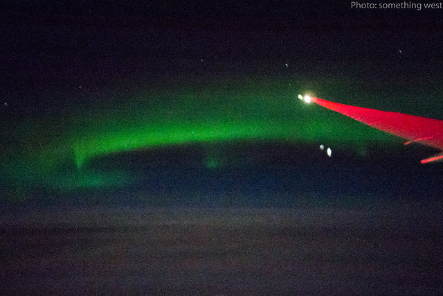 Norrsken på flygplanet 1
