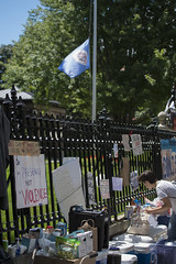 Philando Castile shooting protest at the Minnesota Governor's Mansion