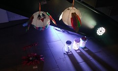 Bird lanterns and jars