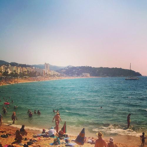 lloret de mar sea morze spain hiszpania catalonia beach