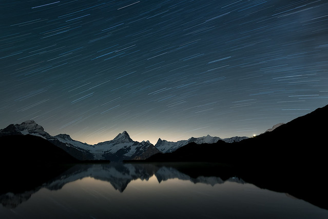 Startrails over Bachalpsee