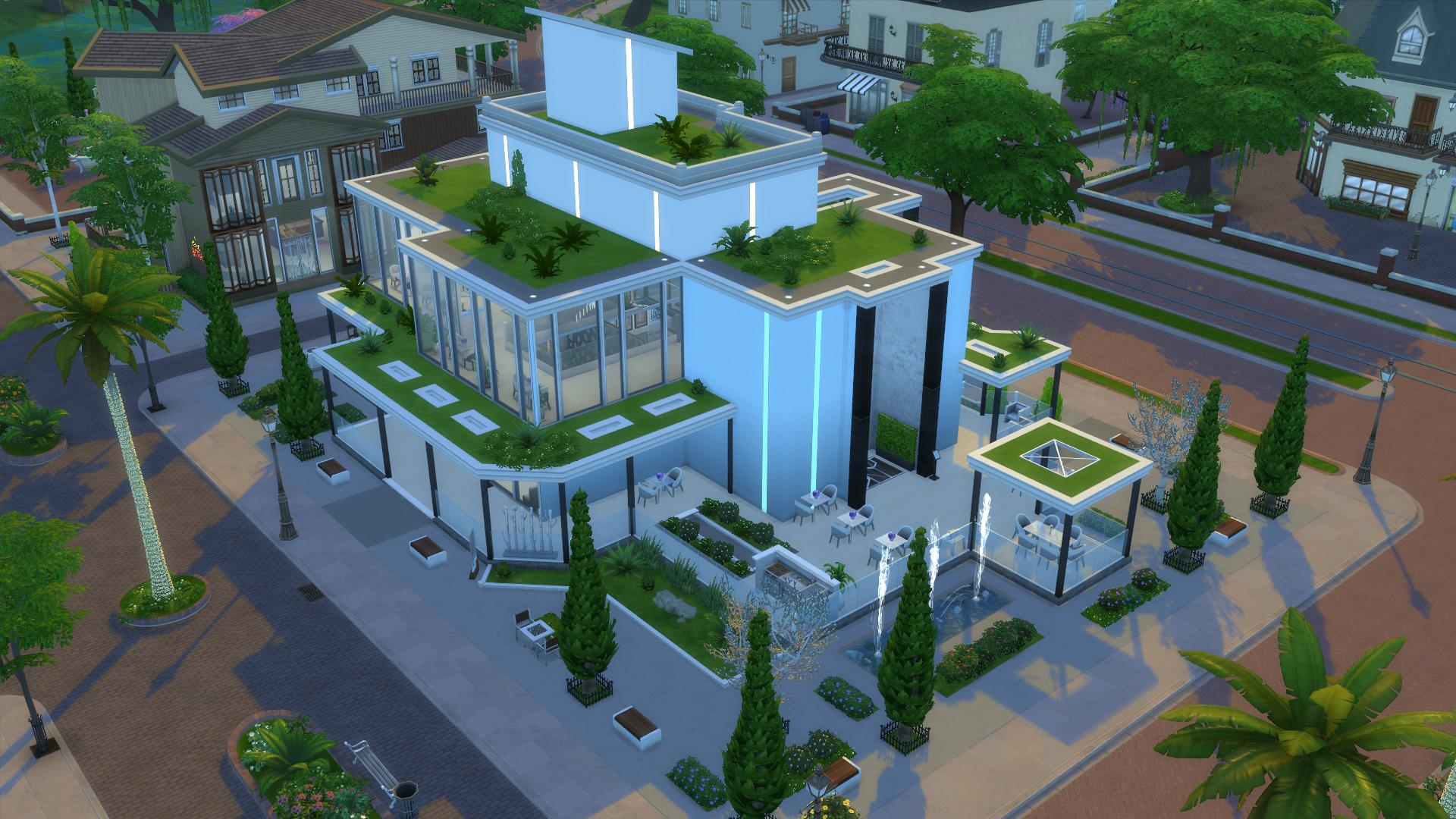 Arcadia greens neo futuristic restaurant — the sims forums