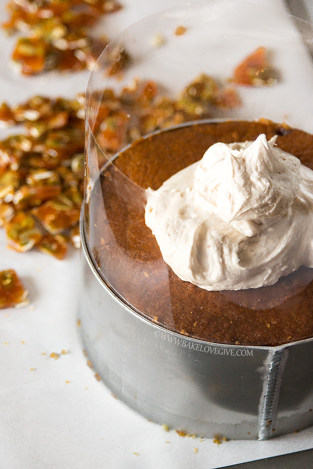 pumpkin spice cake with cinnamon brown sugar cream cheese frosting and ...