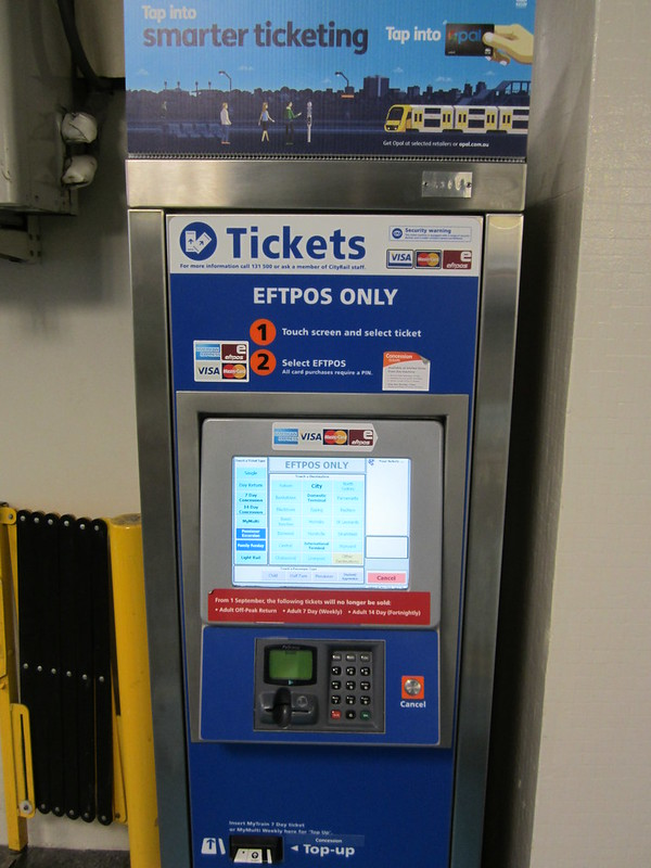 Sydney station ticket machine