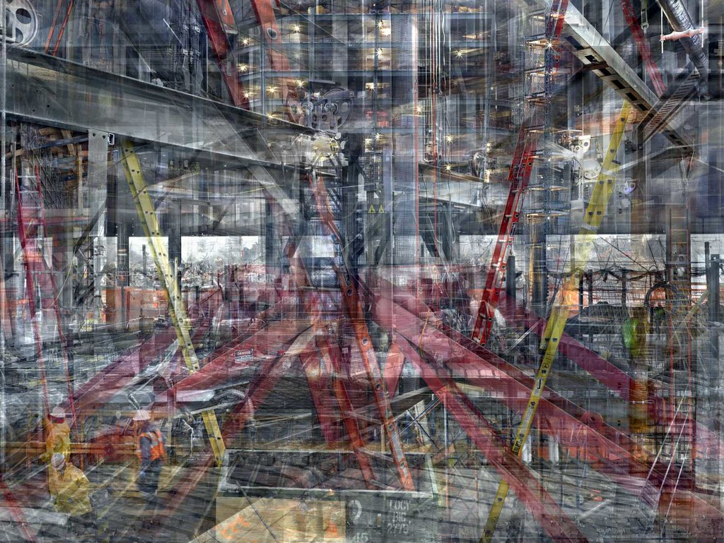Shai Kremer, World Trade Center: Concrete Abstract no. 13 2011–2012, completed 2012, archival pigment print, 60 x 80