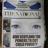 Scotland's new pro-Indy paper, except for viewers on the internet, bizarrely.