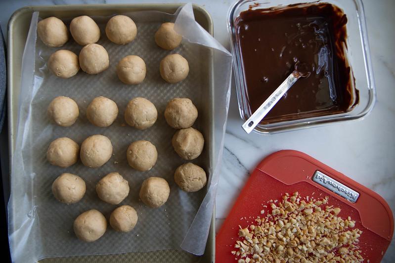 Vegan Chocolate Peanut Butter Truffles