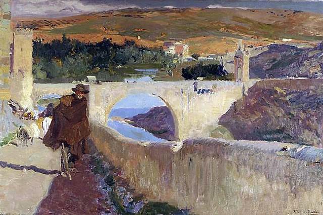 Sorolla, Joaquín. 1906. El ciego de Toledo. Óleo sobre lienzo, 62 x 93cm. Dallas . Meadows Museum