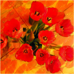Red tulips on your birthday!