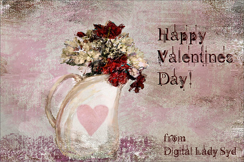 Another Valentine this time using Corel Painter