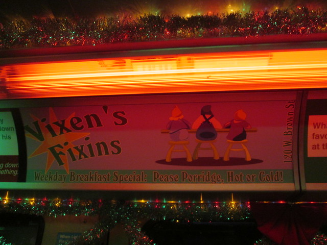 """Inside the Yellow Line Holiday Train - Ads - """"Vixen's Fixins"""""""