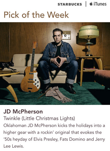 Starbucks iTunes Pick of the Week - JD McPherson - Twinkle (Little Christmas Lights)
