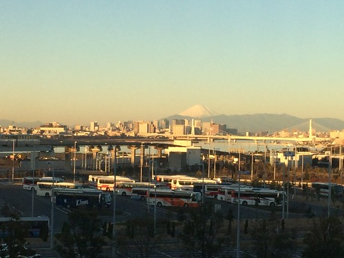 View of Tokyo and Mt Fuji from Haneda Airport