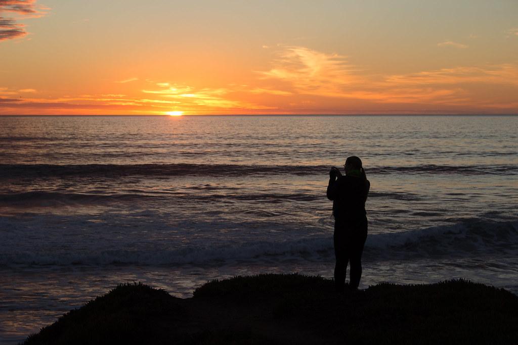 auringonlasku, Kalifornia, USA